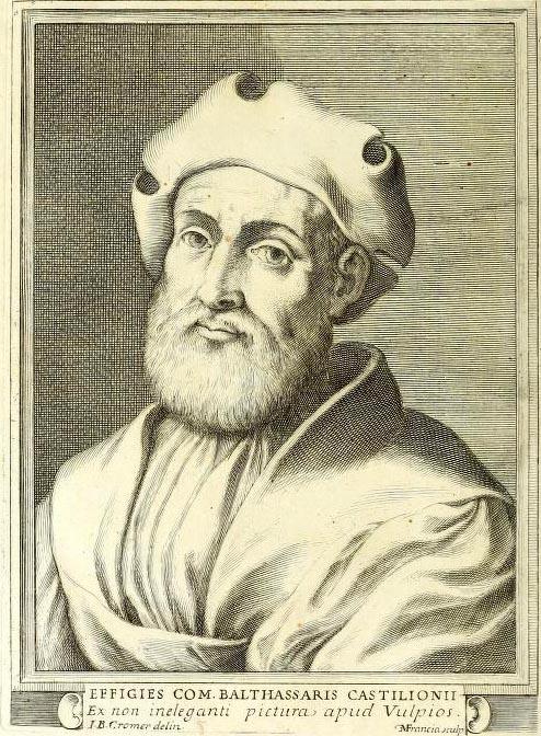 Ritrattro del Castiglione da libro de Il Cortegiano