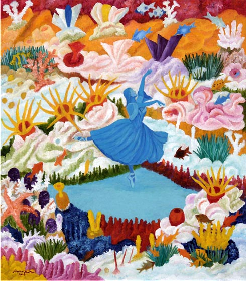 2007 - La ballerina blu_ 70x80
