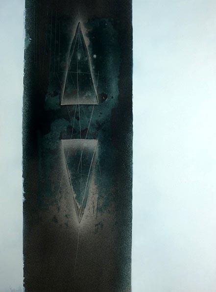 PAGGIARO-1973-Senza titolo-nitrosintetico su cartoncino 70x50