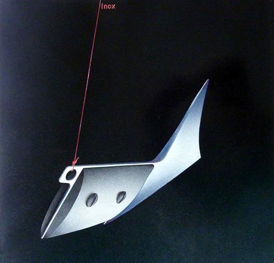 PAGGIARO 1978 -  Inox - nitrosintetico su carta, 36x36