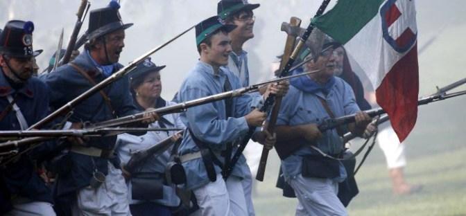 24-06-2007 San Martino della Battaglia ( Bs ) Provincia Rievocazione Battaglia di San Martino nella foto : avanzata ph. Fotolive / Davide Elias