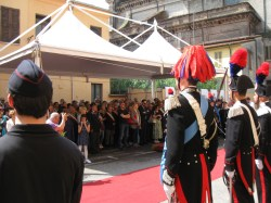 Un momento della cerimonia