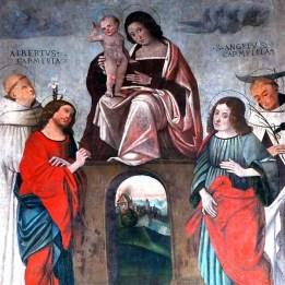 Madonna in trono tra i Santi Cosma, Damiano, Albero e Angelo