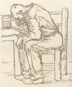 """""""Vecchio seduto"""" Giuseppe Gorni"""
