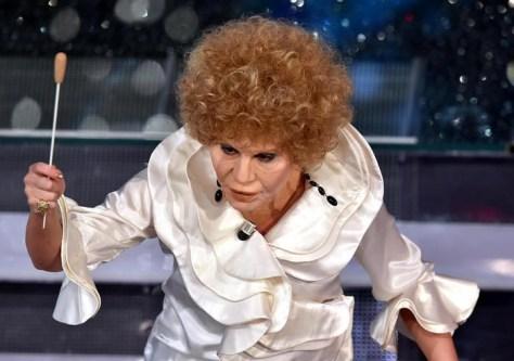 Italian actress Virginia Raffaele performs on stage during the Sanremo Italian Song Festival, at the Ariston theater in Sanremo, Italy, 13 February 2015. The 65th Festival della Canzone Italiana runs from 10 to 14 February. ANSA/ETTORE FERRARI