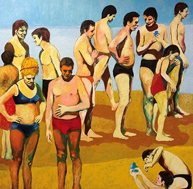 baglieri-persone-in-spiaggia-2016-olio-cm-137x138-400