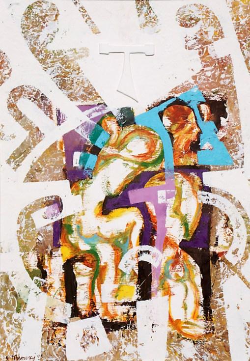 IL SOGNATORE - tecnica mista su tavola - 100x70cm - 2005.jpg
