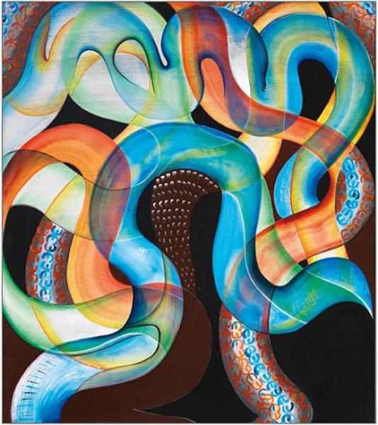 Gheno - 2014, Studio uno, acrilico su tavola, cm 103x92, (800)
