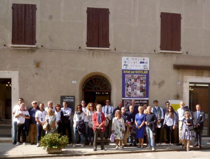 foto degli equipaggi partecipanti al 3° concorso d'eleganza Città di Mantova