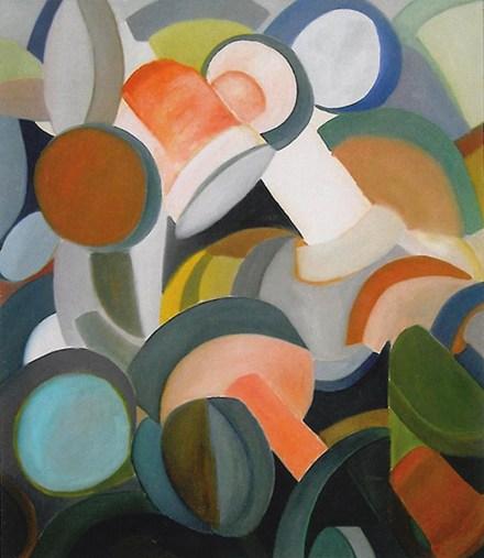Gentile, 1983, Marchingegno n.X, olio su tela, 140x120