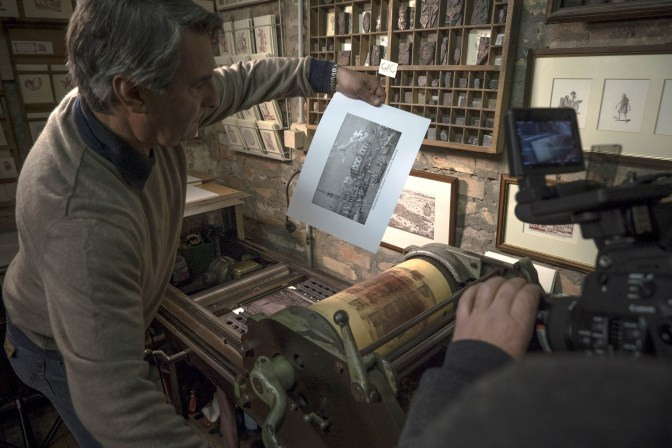 Gianni Basso printing -® EXHIBITION ON SCREEN (David Bickerstaff)