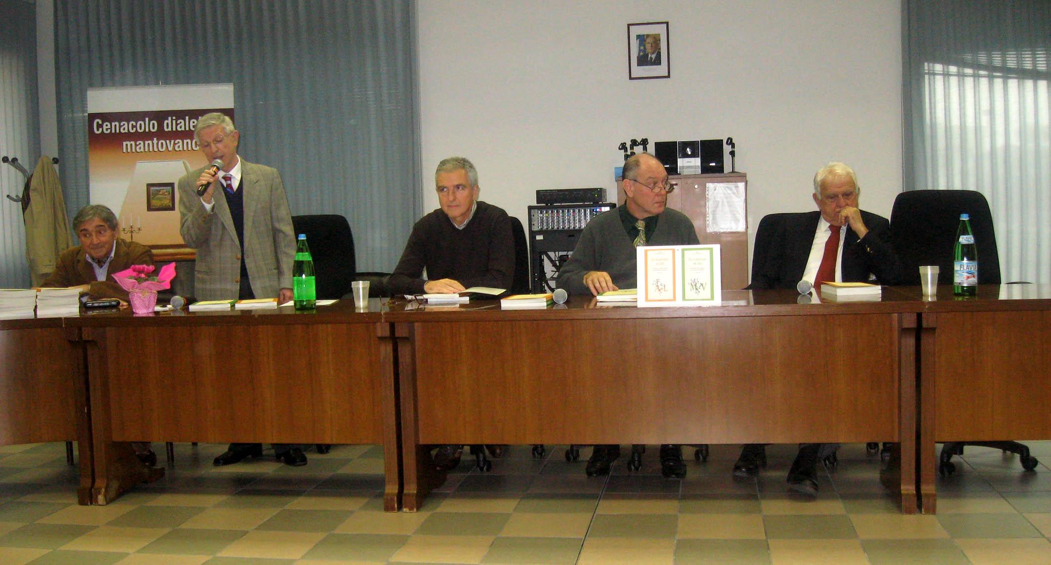 2012 - Presentazione Glossario - Sala civica Porto - Da sx - Mazza - Aldrighi - Assessore alla Cultura, Bettoni - Quarenghi - Gozzi