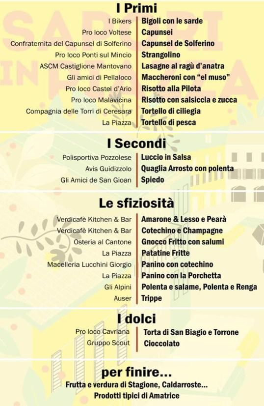 menu sapori in piazza