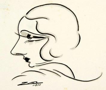 Nino Za - caricatura di Andreina Pagnini