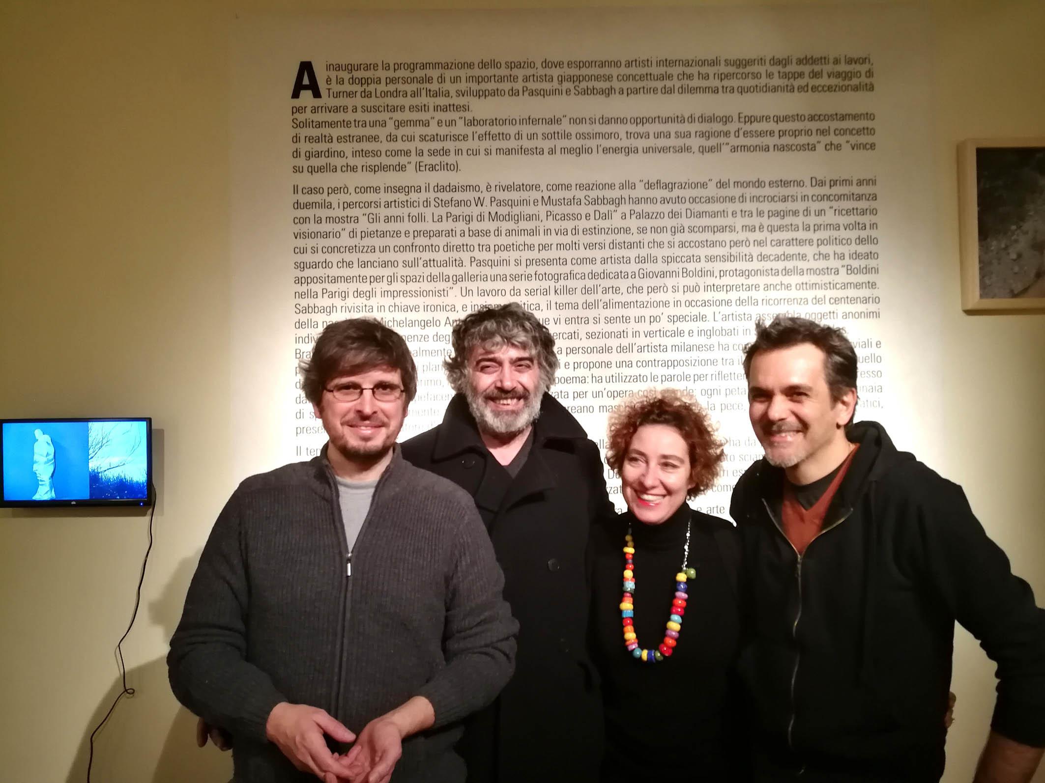 Da sinistra Massimo Marchetti, Mustafa Sabbagh, Marialivia Brunelli e Stefano Pasquini