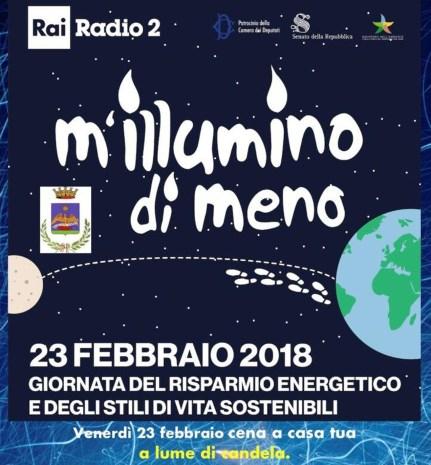 Locandina M'illumino di meno Gazoldo Ippoliti 23 febbraio