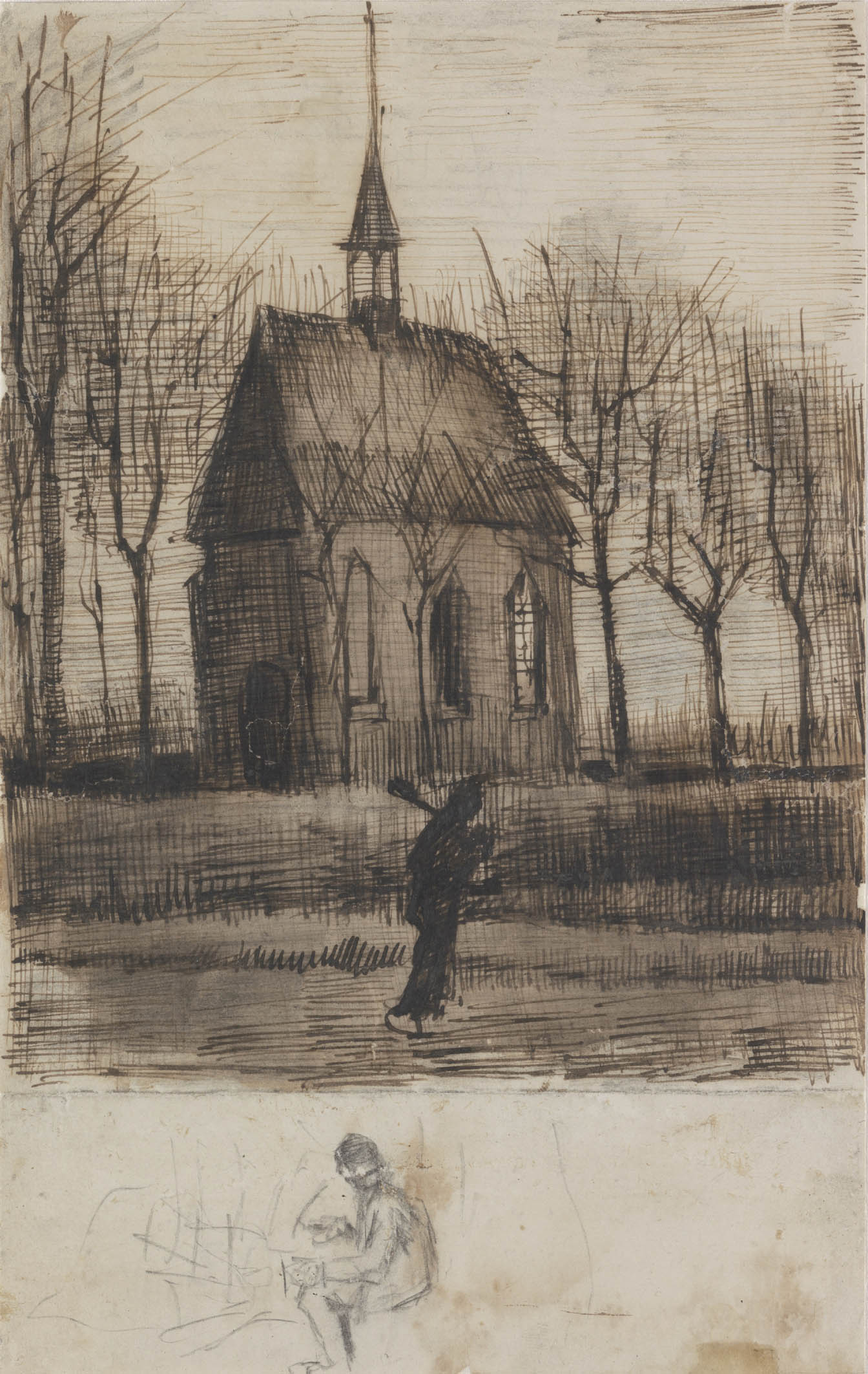 16 - KM 125.492 The Reformed Church at Nuenen, January 1884