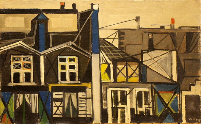 PANTALEONI IDEO - Vecchie case a Parigi, 1948, olio su tela, cm 38x61.jpg