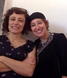 SILVIA CAMPORESI con la curatrice MARIA LIVIA BRUNELLI