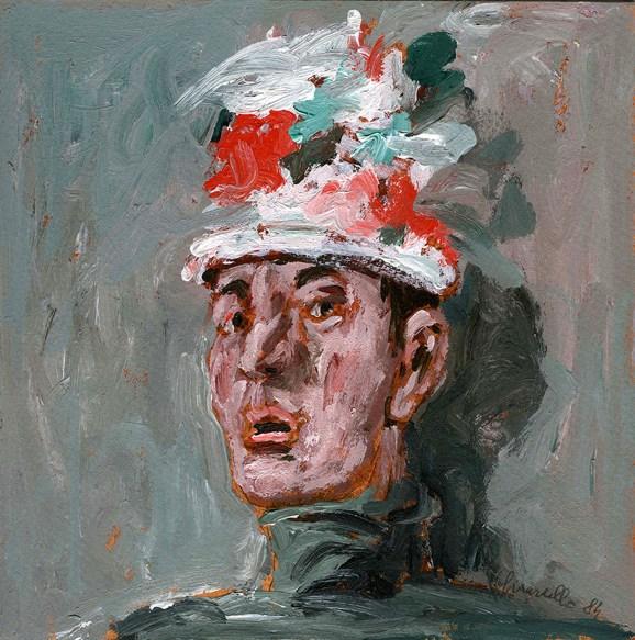 Silvano Girardello - Autoritratto, 1984, olio su tavola (800)