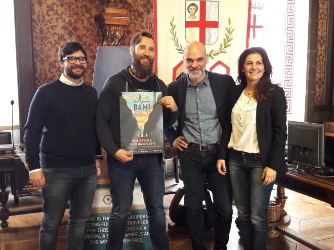 da sxAndrea Murari, Dino Lanzaretti, Andrea Benesso ed Eleonora Bujatti.