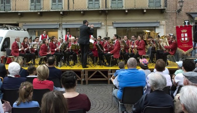 Banda città di Mantova in piazza Mantegna (2017)