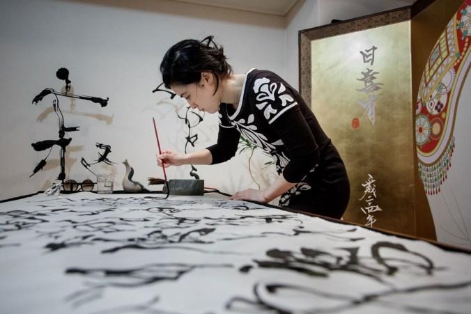 artista e calligrafa giapponese Sisyu1