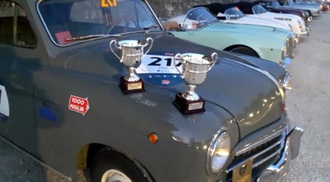 Fiat 1400 e i trofei vinti