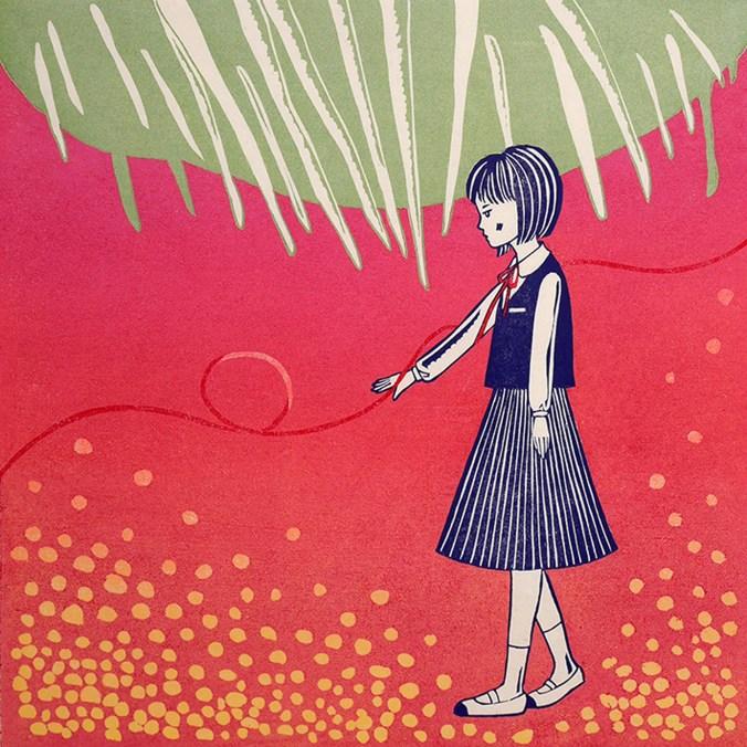 MIHO IKEDA - utopia girl 1, xilografia.jpg