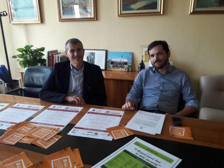 il sindaco Paolo Galeottii e il vicesindaco Max Boschini