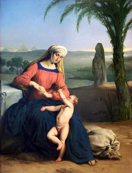 Francesco-Hayez-Riposo-durante-la-fuga-in-Egitto-1831-collezione-privata