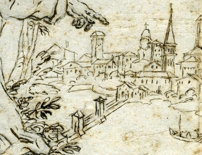 disegno del pittore veneziano Girolamo Brusaferro