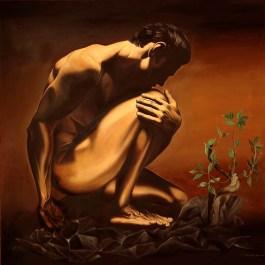 meditazione -olio su tela cm 90x90