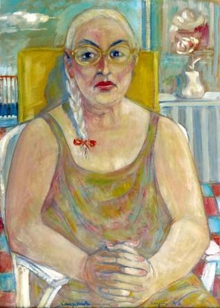 1994 ZANGRANDI - Nerea mia moglie, 1994, olio su cartone, cm 70x50