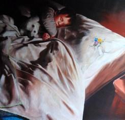 DSavini, 2016, Sergio, olio su tela, 88 x 90 cm
