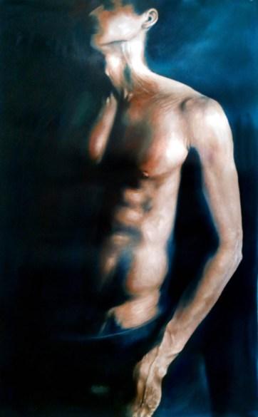 Lacerato, olio su tela, 88 x 55 cm