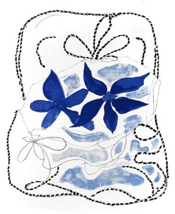 Geoges Braque Les deux Iris bleus, 1963