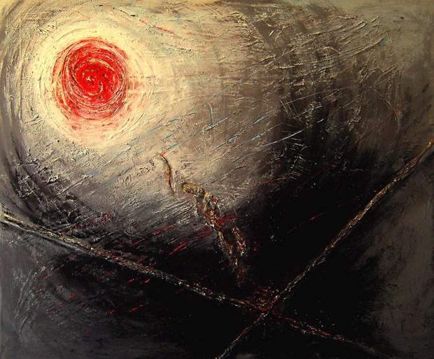 Teresa Noto,Structure, 2013, tecnica mista su tela