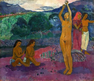 Paul Gauguin (French, 1848 - 1903), The Invocation, 1903, oil on canvas, Gift from the Collection of John and Louise Booth in memory of their daughter Winkie 1976.63.1