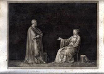 MARCHETTI DOMENICO 4 - ERODOTO - CLIO Canova inv Dom. Marchetti inc 1811-12 mm 305x385 Roma Calcografia Camerale