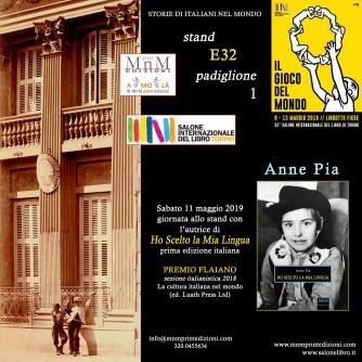 SALONE TORINO 2019 Anne Pia