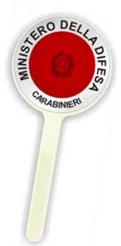 carabinieri paletta