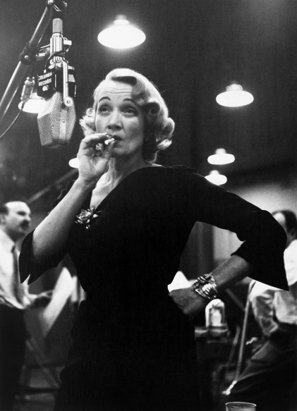 Marlene Dietrich at Columbia records studios, New York, USA, 1952© Eve Arnold  Magnum Photos.