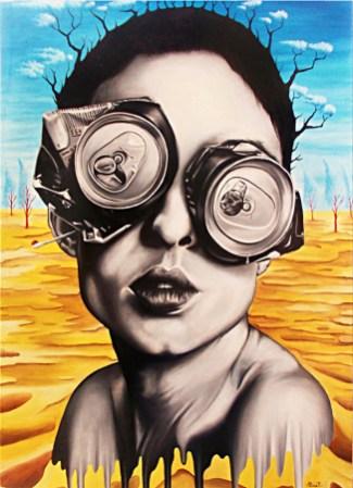 5) Paolo Pomati - La folie, 2015, olio su tavola, cm 50x70