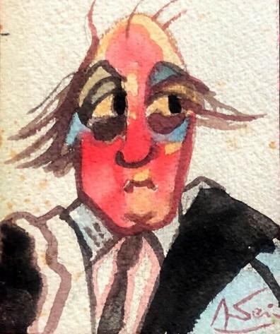Autoritratto Federico Fellini - @ Archivio Terzi - Luchetti