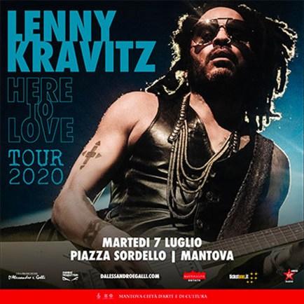 Lenny Kravitz Mantova 2020 piazza sordello