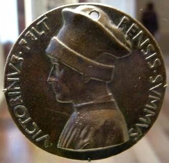 Pisanello, medaglia di vittorino da feltre, retro - 1446 circa