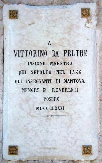 Mantova - lapide commemorativa dedicata a Vittorino da Feltre