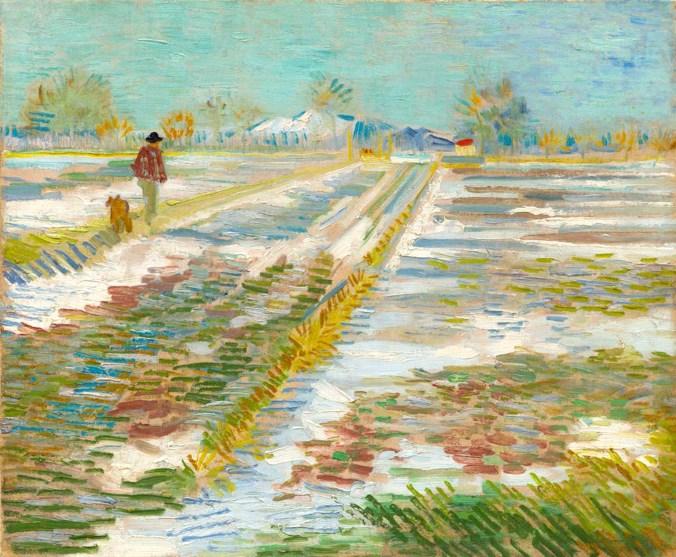 17. van Gogh Paesaggio con la neve