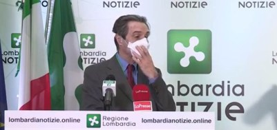 Fontana presidenre Regione Lombardia